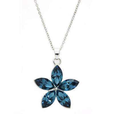 Sparkle Allure Blue Flower Beaded Necklace
