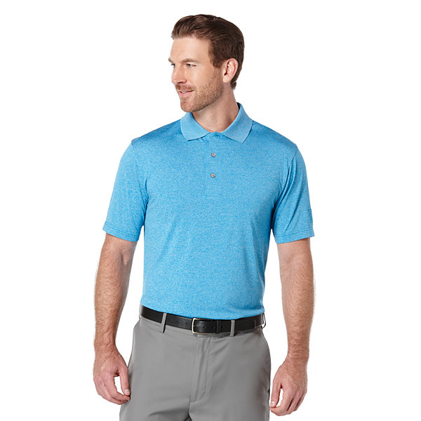 PGA TOUR Short Sleeve Heathered Polo Shirt