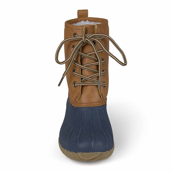 Journee Kids Lace Up Boots - Little Kids