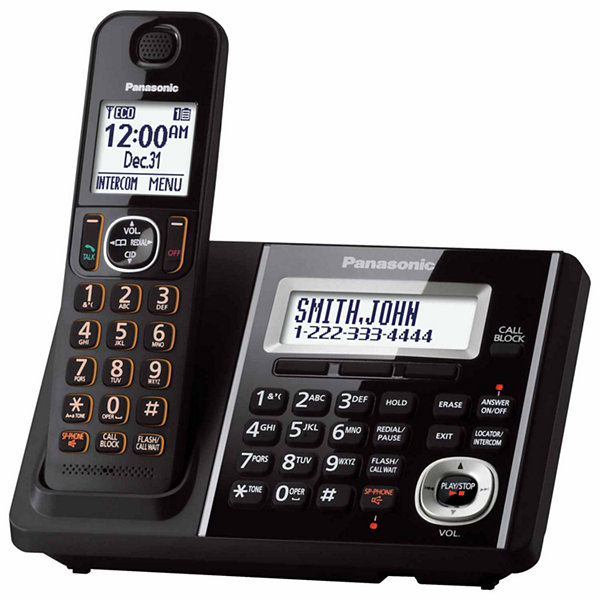 Panasonic KX-TGF340B Expandable Digital Cordless Answering System with 1 Handset - Black