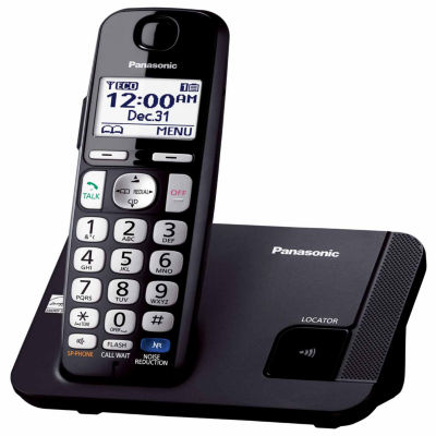 Panasonic KX-TGE210B Amplified Expandable Digital Cordless Answering System with 1 Handset - Black