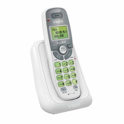 VTech CS6114 DECT 6.0 Single-Handset Cordless Phone System with Caller ID/Call Waiting - White