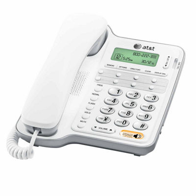 AT&T CL2909 Corded Speakerphone with Caller ID/Call Waiting - White