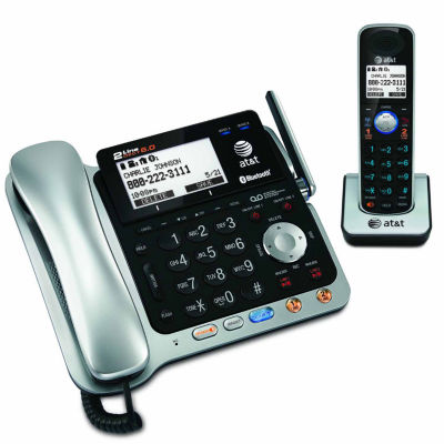 AT&T TL86109 DECT 6.0 2-Line Corded/Cordless Connect-to-Cell Answering System with Caller ID/Call Waiting