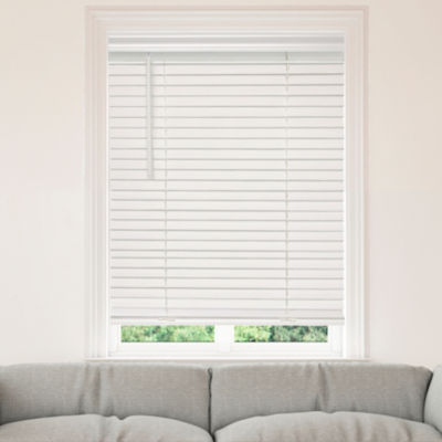"JCPenney Home™ Cut-to-Width 2"" Cordless Faux-Wood Horizontal Blinds"