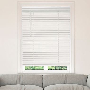 jcpenney home cut to width 2 cordless faux wood horizontal blinds jcpenney. Black Bedroom Furniture Sets. Home Design Ideas