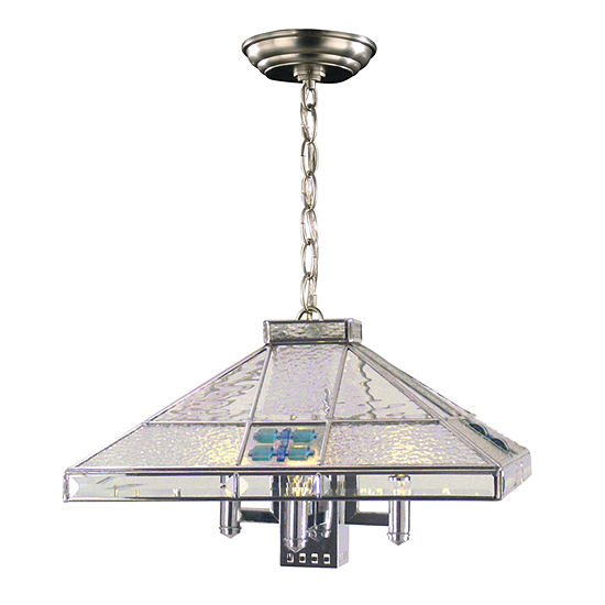 Dale Tiffany Blue Fused 3 Light Hanging Fixture