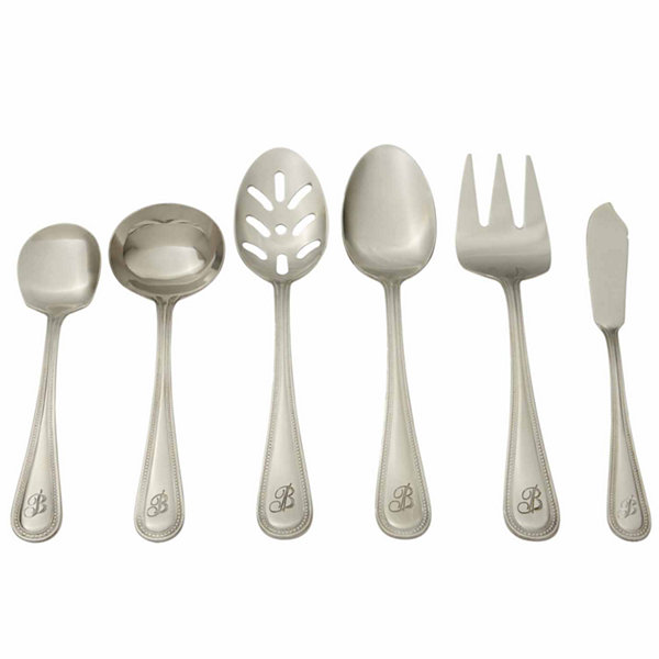RiverRidge Beaded 46PC Personalized or Solid Flatware Set A