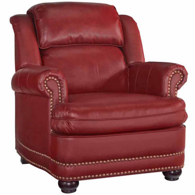 Winston Chair Faux Leather Roll-Arm Chair