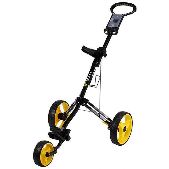 Hot Z 30 3 Wheel Push Cart Black