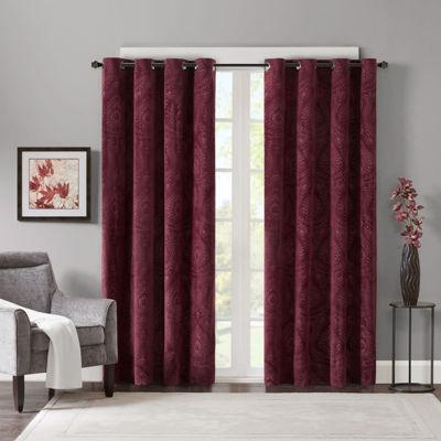 Madison Park Cecil Grommet-Top Curtain Panel