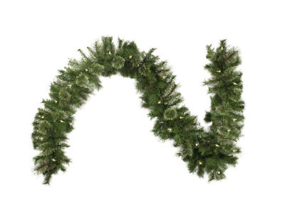 9 Ft. Pre-Lit Atlanta Mixed Cashmere Pine Artificial Christmas Garland with Clear Lights
