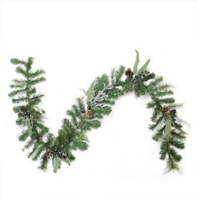 6 Ft. Unlit Artificial Mixed Pine with Blueberries, Pine Cones and Ice Twigs Christmas Garland