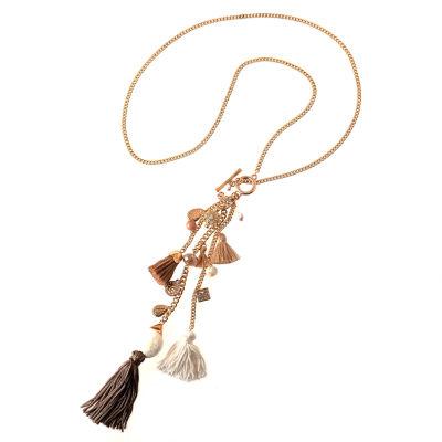 Bijoux Bar Womens Clear Pendant Necklace