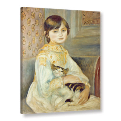 Brushstone Julie Manet with Cat Gallery Wrapped Canvas Wall Art