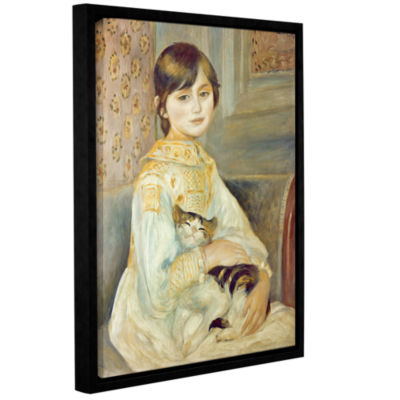 Brushstone Julie Manet with Cat Gallery Wrapped Floater-Framed Canvas Wall Art
