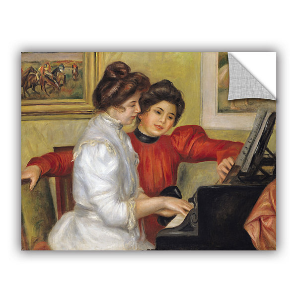 Brushstone Yvonne and Christine Lerolle at The Piano Removable Wall Decal