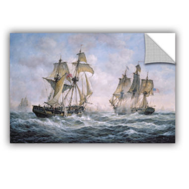 Brushstone Action Between U.S. Sloop-Of-War 'Wasp'And H.M. Brig-Of-War 'Frolic'; 1812 Removable Wall Decal