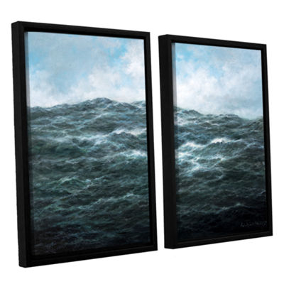 Brushstone Atlantic Ocean 2-pc. Floater Framed Canvas Wall Art