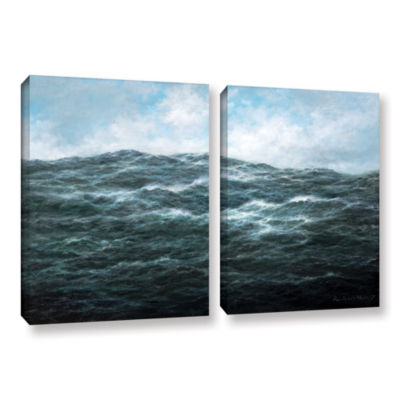 Brushstone Atlantic Ocean 2-pc. Gallery Wrapped Canvas Wall Art