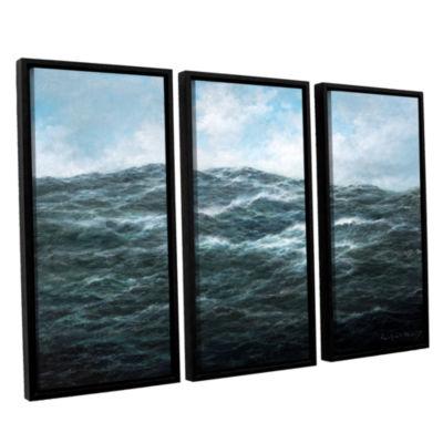 Brushstone Atlantic Ocean 3-pc. Floater Framed Canvas Wall Art