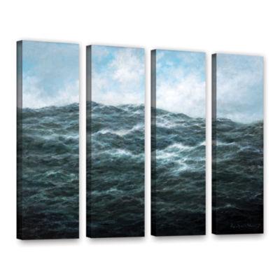 Brushstone Atlantic Ocean 4-pc. Gallery Wrapped Canvas Wall Art