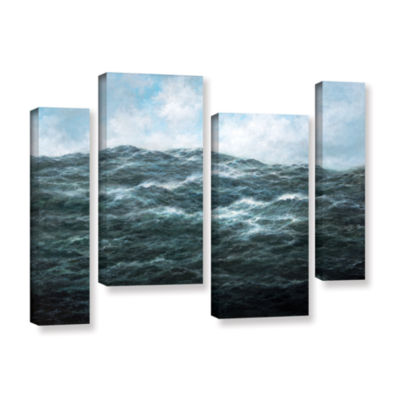 Brushstone Atlantic Ocean 4-pc. Gallery Wrapped Staggered Canvas Wall Art
