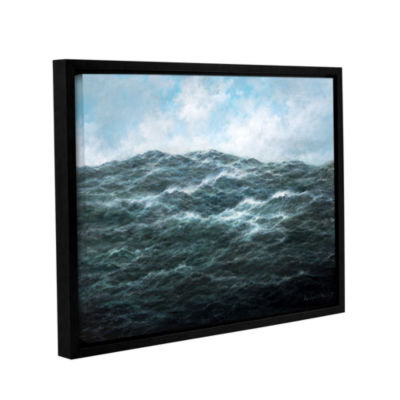 Brushstone Atlantic Ocean Gallery Wrapped Floater-Framed Canvas Wall Art