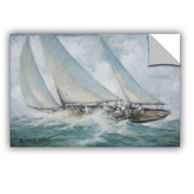 Brushstone Classic Yacht - 'Twixt Wind And Water'Removable Wall Decal