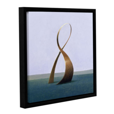 Brushstone Infinity Gallery Wrapped Floater-FramedCanvas Wall Art