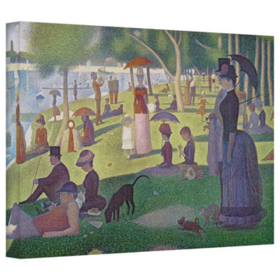 Brushstone A Sunday Afternoon On The Island of LaGrande Jatte Gallery Wrapped Canvas Wall Art