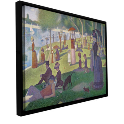 Brushstone A Sunday Afternoon On The Island of LaGrande Jatte Gallery Wrapped Floater-Framed CanvasWall Art