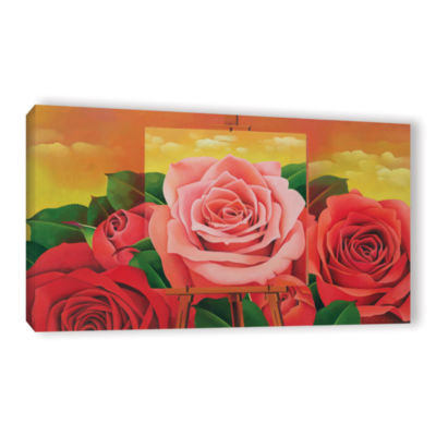 Brushstone The Rose; 2004 Gallery Wrapped Canvas Wall Art