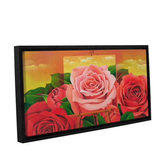 Brushstone The Rose; 2004 Gallery Wrapped Floater-Framed Canvas Wall Art