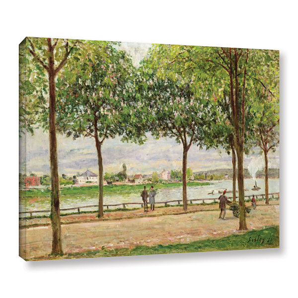 Brushstone Les Promenade Des Marronniers; St Cloud;1878 Gallery Wrapped Canvas Wall Art