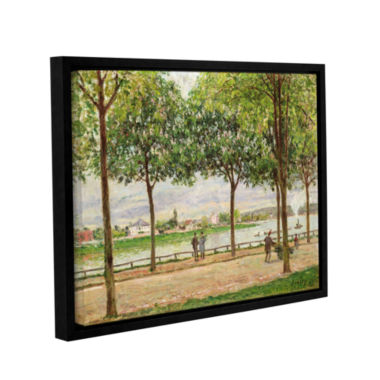 Brushstone Les Promenade Des Marronniers; St Cloud;1878 Gallery Wrapped Floater-Framed Canvas Wall Art