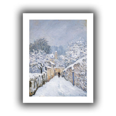 Brushstone Snow at Louveciennes Canvas Wall Art