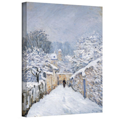 Brushstone Snow at Louveciennes Gallery Wrapped Canvas Wall Art