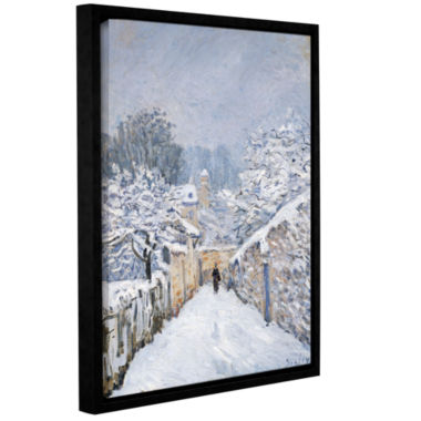 Brushstone Snow at Louveciennes Gallery Wrapped Floater-Framed Canvas Wall Art