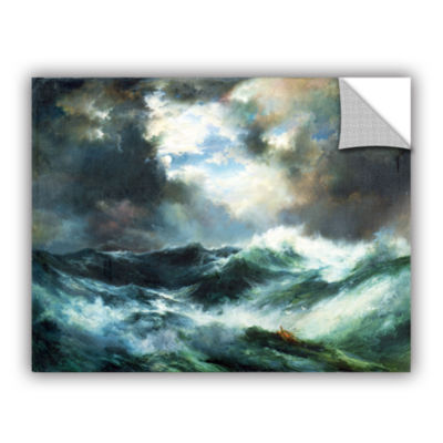 Brushstone Moonlit Shipwreck At Sea; 1901 Removable Wall Decal