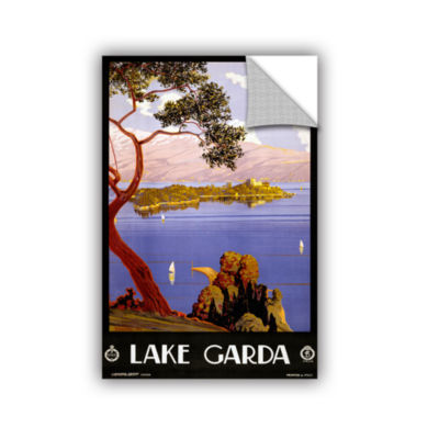 Brushstone Vintage Poster for Lake Garda; Italy Removable Wall Decal