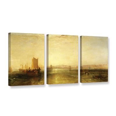 Brushstone Brighton From The Sea 3-pc. Gallery Wrapped Canvas Wall Art