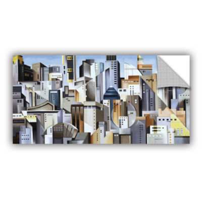 Brushstone Composition Looking East Removable WallDecal