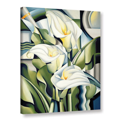 Brushstone Cubist Lilies Gallery Wrapped Canvas Wall Art