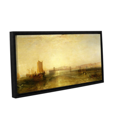 Brushstone Brighton From The Sea Gallery Wrapped Floater-Framed Canvas Wall Art