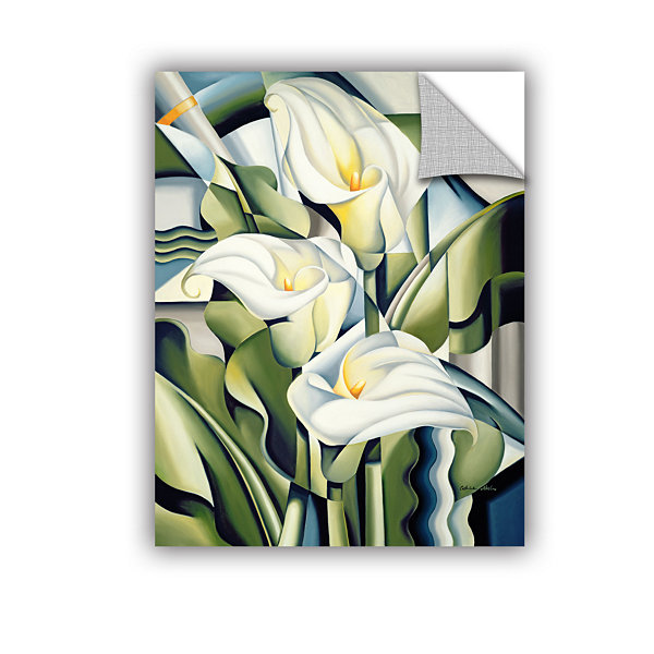 Brushstone Cubist Lilies Removable Wall Decal