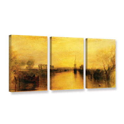 Brushstone Chichester Canal 3-pc. Gallery WrappedCanvas Wall Art