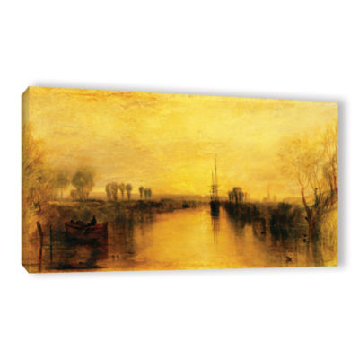 Brushstone Chichester Canal Gallery Wrapped CanvasWall Art