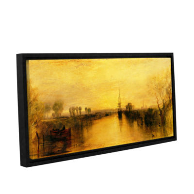 Brushstone Chichester Canal Gallery Wrapped Floater-Framed Canvas Wall Art