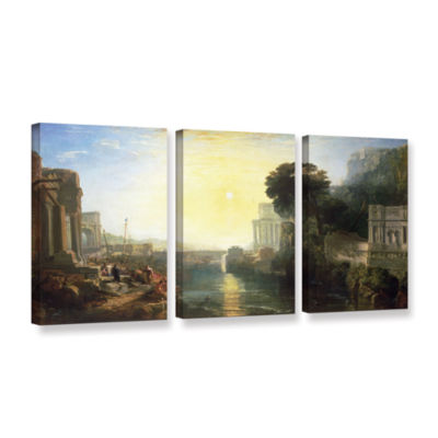 Brushstone Dido Building Carthage or The Rise of The Carthagnian Empire 3-pc. Gallery Wrapped CanvasWall Art